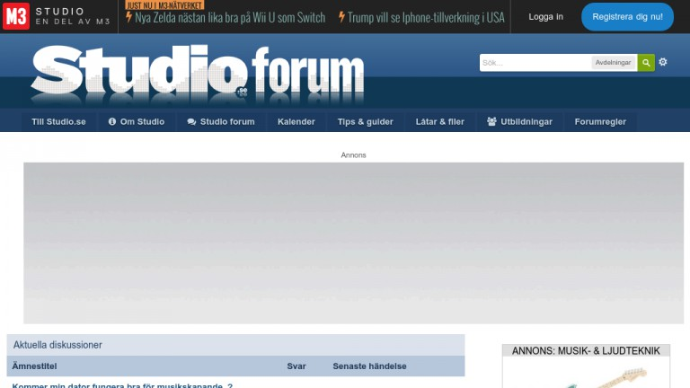 Skärmdump av Studio Forum